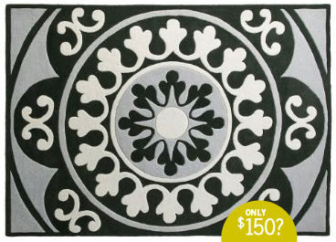 DwellStudio® for Target® Andalucia Rug - Charcoal, My Heart Behaves, black white and gray rug
