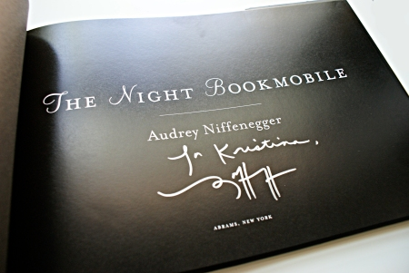 The Night Bookmobile, signed copy of The Night Bookmobile, Audrey Niffenegger, The Chicago Public Library