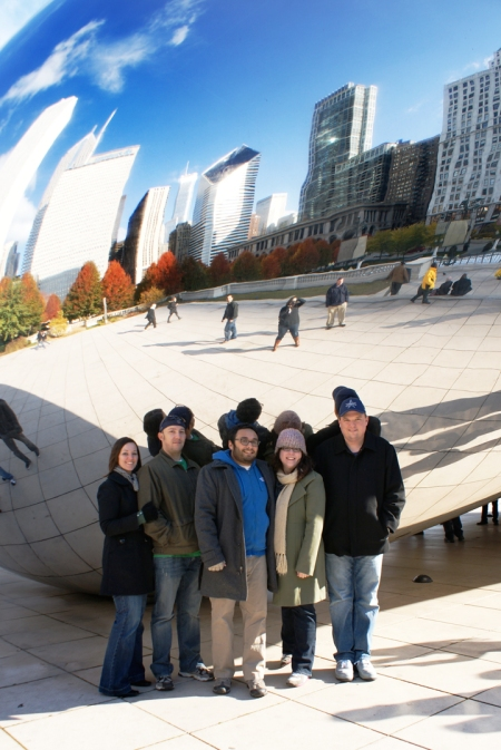 Cloud Gate, Chicago skyline, bean in chicago, bean in millenium park, millenium park