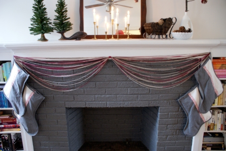 Painted Fireplace, Ikea Stockings