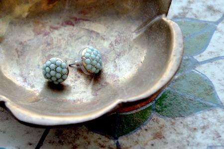 world market earrings, turquoise and gold, mint, brass flower, my heart behaves, kristina walton, studio 67