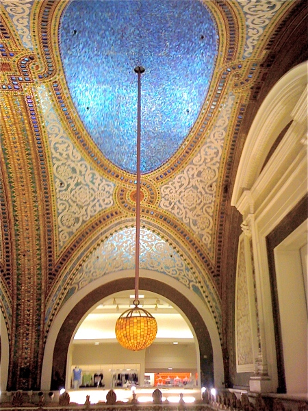 The Tiffany Ceiling at Macy's on State Street